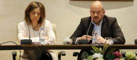 Els cònsols major i menor, Jordi Torres i Esther París.