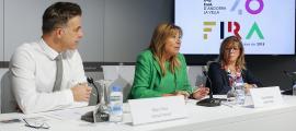 Un espectacle interactiu repassarà els 40 anys d'evolució de la FiraMarc Pons, Conxita Marsol i Mònica Codina van presentar ahir la 40a Fira d'Andorra la Vella al Centre de Congressos.