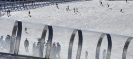 Imatge de l'estació de Pal durant aquesta temporada d'hivern.