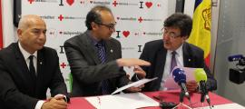 La signatura del conveni va tenir lloc a la seu de la Creu Roja Andorrana.