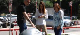 Salcedo, Riva i Marín van inaugurar la mostra 'Animals' al Parc de la Mola d'Escaldes, ahir al matí.