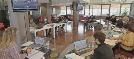 Un moment de la sessió del Consell de Comú de Canillo, ahir al matí.