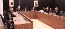 Un instant de la sessió de consell de Comú d'Escaldes, ahir.