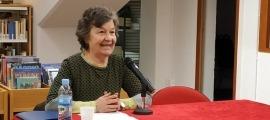 Maria Barbal, en un acte recent convocat a la biblioteca comunal d'Encamp.