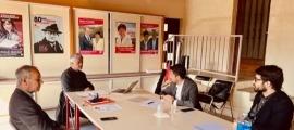 Un moment de la reunió celebrada divendres a Foix.