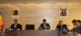 Sessió del Comú d'Ordino, ahir.