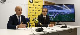 Jordi Vilanova i Josep Segura van presentar ahir els Esports d'Estiu.