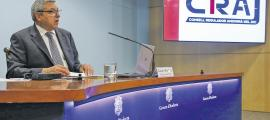 El director del CRAJ, Xavier Bardina, en la presentació del projecte guanyador.