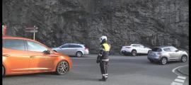 L'accident va tenir lloc a la rotonda situada a l'entrada d'Escaldes-Engordany.