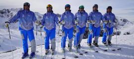 Els membres de l'equip 'demo' d'Andorra que participarà en el congrés d'Interski 2019.