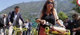 La cònsol major d'Andorra la Vella, Conxita Marsol, en un acte, ahir.