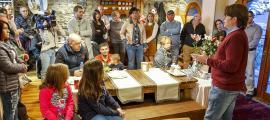 Naudi en la trobada d'ahir amb els veïns de l'Aldosa i Anyós.