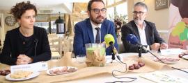 Roser Daban, Jordi Serracanta i Joan Núñez ahir a la presentació de la Mostra.