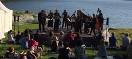 Actuació de Pyrenaeus Ensemble al llac d'Engolasters, el 29 de juliol passat.