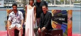 Casamajor, Villaronga i l'equip de 'El ventre del mar', dissabte a Màlaga.
