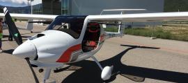 Un aparell a l'aerooport Andorra-la Seu d'Urgell.