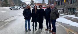 Els membres de CC+DA+L'A, ahir a Arinsal.