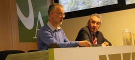 Josep Roig i Jaume Bartumeu ahir a l'UdA.
