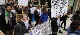 Concentració organitzada per Stop Violències el 25 de novembre passat.
