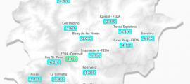 Mapa de temperatures d'ahir al matí.