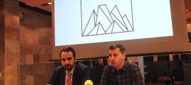 Els consellers Jordi Serracanta i Marc Pons en la presentació del projecte.