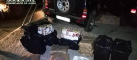 El tabac comissat en un control de la guàrdia civil a Valls de Valira.