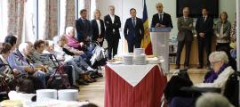 Els residents i usuaris del Cedre van anar a la basílica de Meritxell i després van tenir el discurs del cap del Govern al centre.