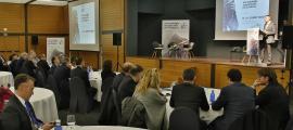 Un moment de la primera jornada del 17è Fòrum d'Empresa Familiar Andorrana d'ahir.