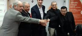Garrallà, Cabanes, Baró, Ribas i Salinas van firmar ahir el conveni que fa possible el Projecte Massana Orgue.