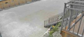 Vista de la zona on es volia construir el nou aparcament.