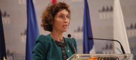 La ministra d'Afers Exteriors d'Andorra, Maria Ubach, durant la seva intervenció.