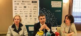 La presentació de la 29 Trobada Empresarial al Pirineu, ahir a Lleida.
