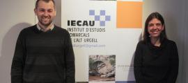 Lluís Obiols i Pilar Aláez durant la presentació del programa d'activitats.