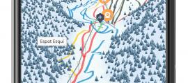 El mapa 3D de l'estació d'esquí d'Espot.