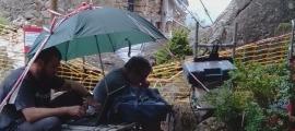 Els geòlegs d'Igeotest van practicar dimecres una prospecció al subsol de Sant Vicenç.