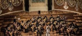 L'Orquestra de Guitarres de Barcelona, al Palau de la Música.
