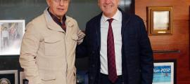 El president del COE, Alejandro Blanco, amb el síndic d'Aran, Francés Boya.