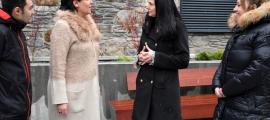 Molné i Sansa ahir amb Josep Fusté i Mireia Ramos a la Massana.
