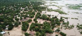 Vista aèria de les zones inundades de Marka, a la frontera entre Malawi i Moçambic.