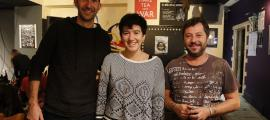 Foto de família dels guanyadors del 2n concurs de música d'autor de la Fada; els premis es van entregar ahir a la capital.