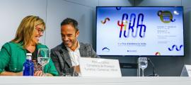 Mònica Codina i Alain Cabanes van presentar ahir al matí la 41a Fira d'Andorra la Vella al Centre de Congressos.