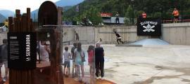 Una imatge del parc de la Serradora, que s'ha inaugurat aquest dijous a la tarda a Santa Coloma.
