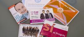 Els programes dels sis partits que l'han imprès en paper: Andorra Sobirana i Units pel Progrés en reparteixen còpies sota demanda.