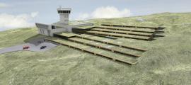 Reconstrucció virtual del futur Centre Residencial en Alçada, amb les terrasses que en modificaran de forma substantiva l