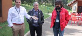 Gerard Figueras, Gilbert Felli i el president de FGC, Ricard Font.