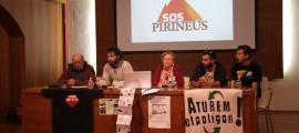 La plataforma SOS Pirineus es va presentar ahir.