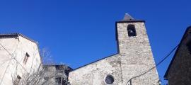 L'església de Sant Martí de Bescaran.