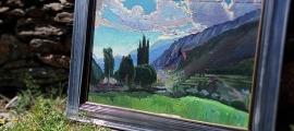 Esbós de 'Crepuscle' ara localitzat: fa 50 per 70 centímetres, i Mir el va pintar el 1933, en la segona de les campanyes andorranes.