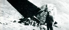 Cua del Junkers que la nit del 24 de març del 1944 va caure embolicada en flames a la muntanya d'Enviny, al Pallars Sobirà.