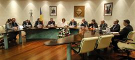 Una reunió anterior del consell del comú.